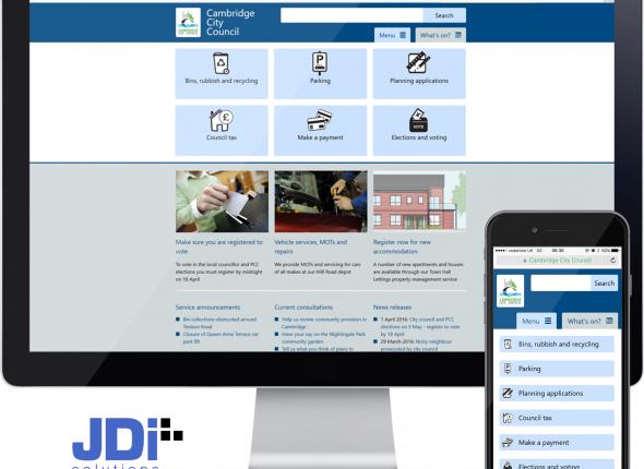 Cambridge City Council web and mobile site